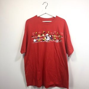 Peanuts XL T-Shirt Red Snoopy Charlie Brown Men's